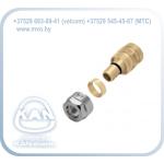 Соединитель свинчиваемый латунный с наружной резьбой, для труб PE-Xc/Al/PE-HD Platinum