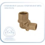 Отвод латунный Push, с резьбой наружной для медной трубки Cu 15 - G1/2