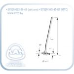 Тройник латунный Push редукционный с трубкой Cu Ø15, никелированный, Lmin = 300 мм