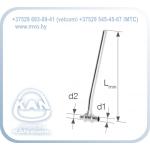 Тройник латунный Push с трубкой Cu Ø15, никелированный, Lmin = 300 мм